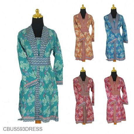 Sarimbit Dress Motif Salur Songket Bunga
