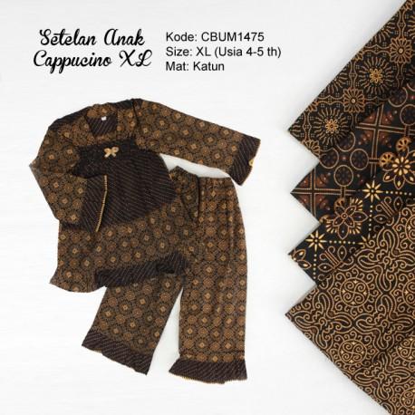 Setelan Anak Muslim Motif Cappucino Size XL