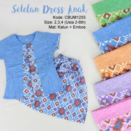 Setelan Dress Anak Tetris