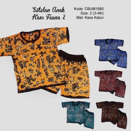 Setelan Kaos Anak Fauna Size 2