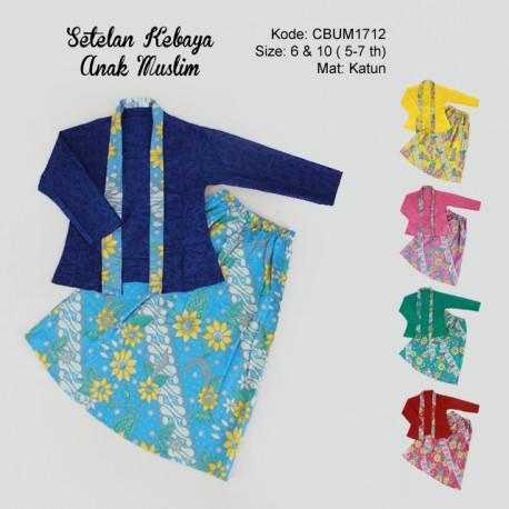 Setelan Kebaya Anak Batik Bunga Size 6 & 10