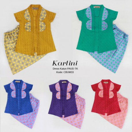 Dress Anak Kebaya Batik Kartini PAUD-TK