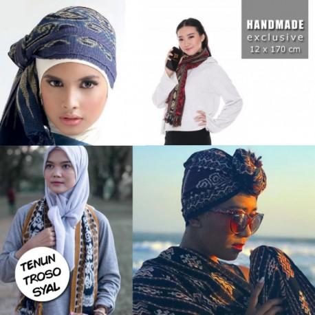 Syal Tenun Troso Jepara Handmade Halus