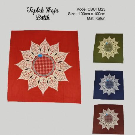 Taplak Meja Batik Bunga