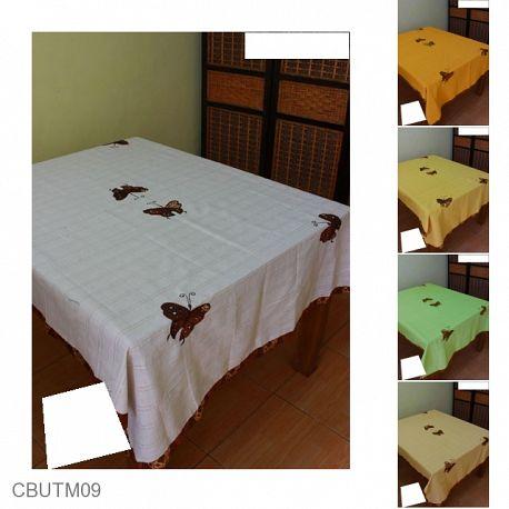 Taplak Meja Makan Motif Kupu Kupu Batik