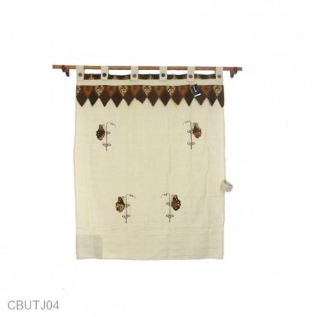 Tirai Jendela Motif Batik Kupu-Kupu