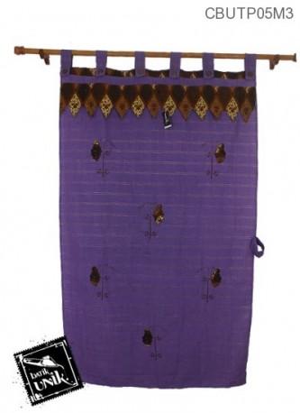 Tirai Pintu Motif Batik Kupu-Kupu