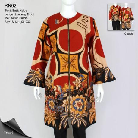 Tunik Batik Alusan Lengan Lonceng Trikot Parang Barong Bunga