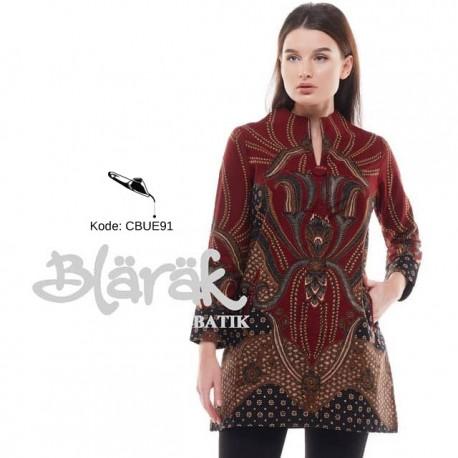 Tunik Batik Blarak Motif Padimas Marun