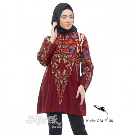 Tunik Batik Blarak Motif AHY 4 Merah