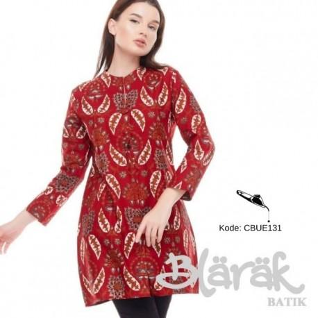 Tunik Batik Blarak Daun Merah