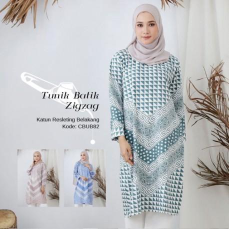 Tunik Batik Katun Zigzag
