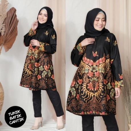 Tunik batik Katun Motif Parang Keprabon