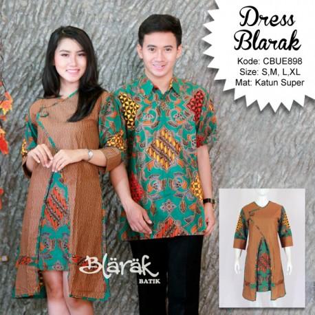 Tunik Dress Batik  Blarak Hijau 9029