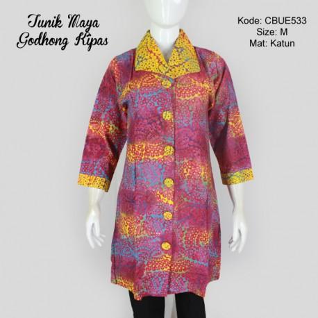 Tunik Maya Motif Godhong Kipas