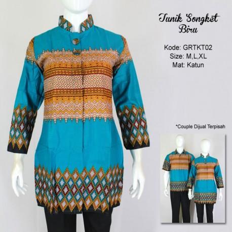 Tunik Songket Biru