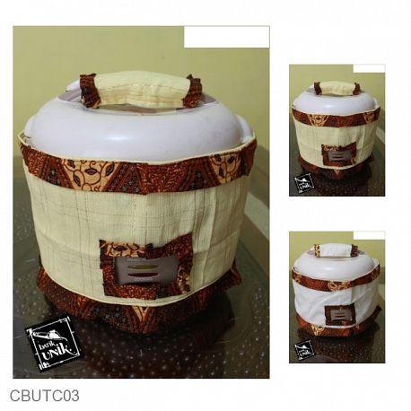 Tutup Magic Com Tenun Motif Batik Mataram