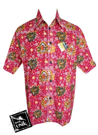 Baju Batik Kemeja Smok Motif Batik Bola AC Milan