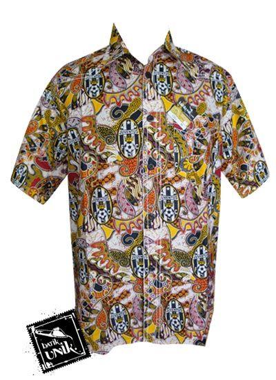 Baju Batik Kemeja Smok Motif Batik Bola Juventus