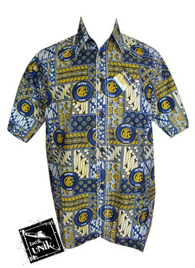 Baju Batik Kemeja Smok Motif Batik Bola Inter Milan