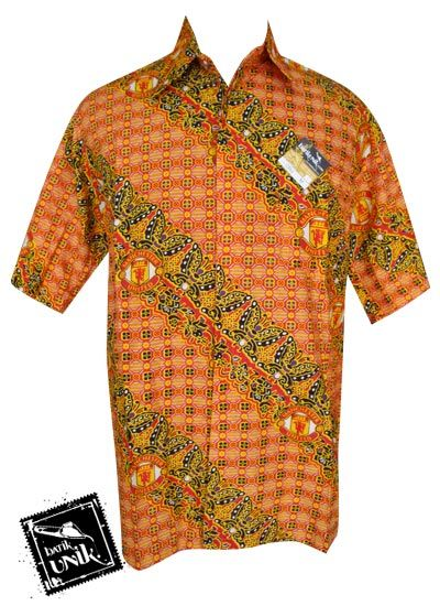 Baju Kemeja Batik Bola Motif MU PROMO