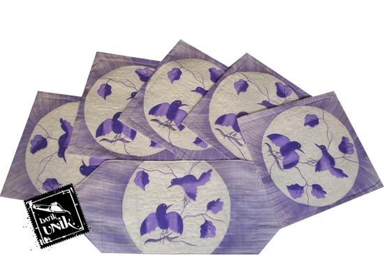 Sarung Bantal Kursi Batik Motif Batik Lukis Bunga