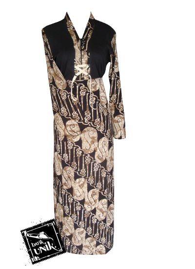 Baju Batik Gamis Kaos Motif Aneka Parang Kombinasi Gamis