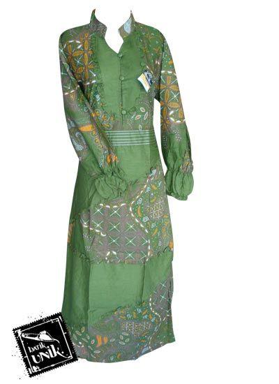 Baju Batik Gamis Motif Kebun Lintang Gamis Batik Murah