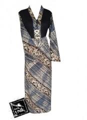 Baju Batik Gamis Kaos Motif Aneka Parang Kombinasi
