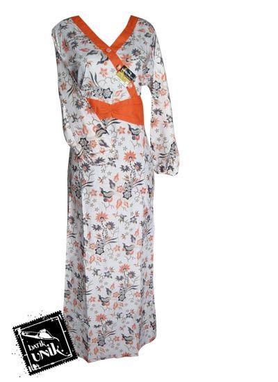 Baju Batik Gamis Motif Bunga Kumis Kucing Gamis Batik
