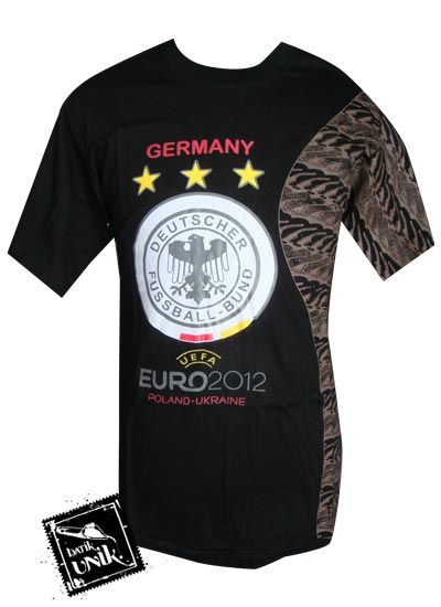 Kaos Batik Etnik Exclusive Motif Bola Euro