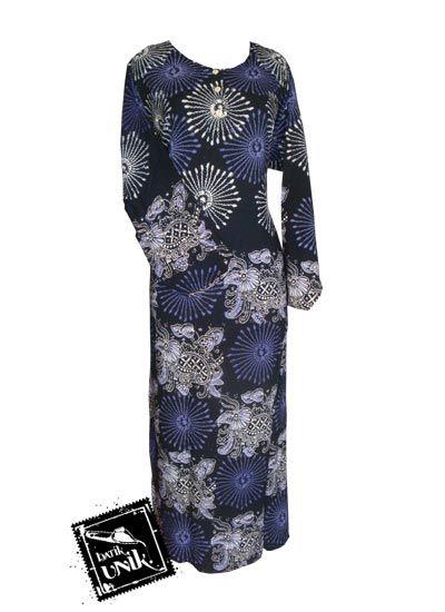 Baju Batik Gamis Motif Kembang Api Daster Longdress