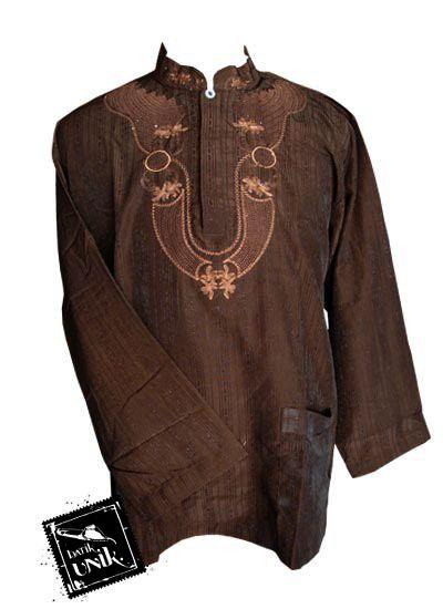 Baju Batik Koko Exclusive Aplikasi Bordir