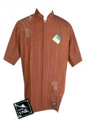 Baju Batik Koko Pendek Exclusive Aplikasi Bordir