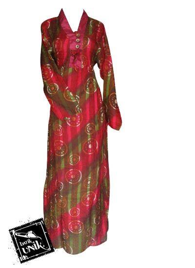 Baju Batik Gamis Viskos Motif Batik Pelangi Gamis Batik