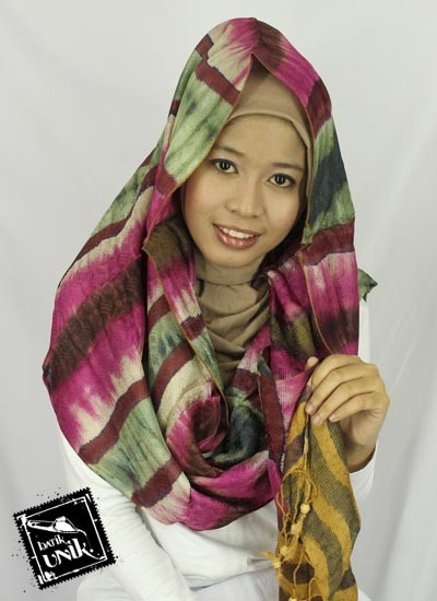 Kerudung Modern Tie Dye Exclusive Bahan Rayon Viscouse