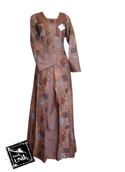 Baju batik gamis motif kutut manggung gamis batik murah Baju gamis putih murah