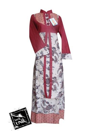 Baju Batik Sarimbit Motif Cokelat Bunga Tumpal Sarimbit