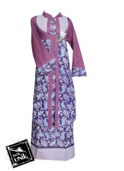 Baju Batik Gamis Motif Lurik Bintang Awur Gamis Batik