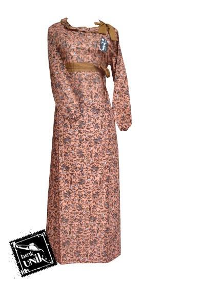 Model Gamis Cantik Baju Gamis Batik Sarimbit Coklat Baju Gamis