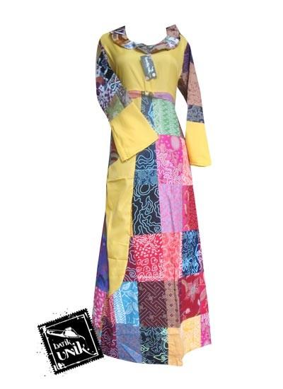 Baju Batik Gamis Motif Batik Perca Gamis Batik Murah