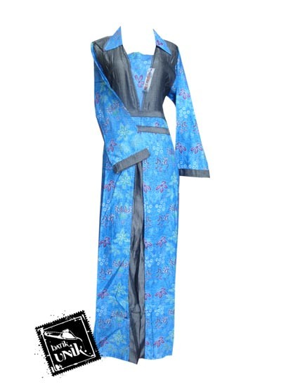 Baju Batik Gamis Motif Kembang Trenggono Gamis Batik