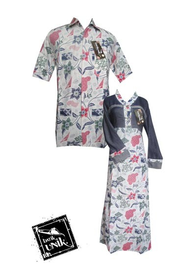 Baju Batik Sarimbit Motif Bunga Camanthel Sarimbit Gamis