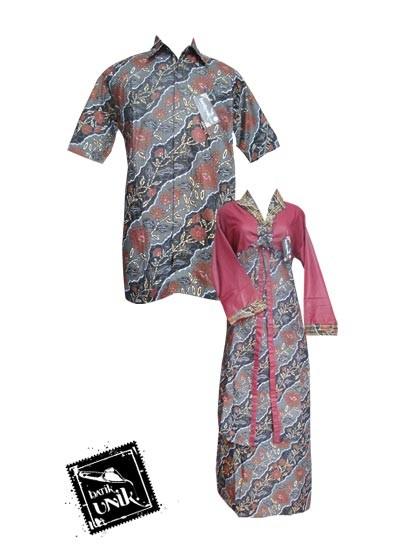 Baju Batik Sarimbit Motif Liris Kembang Anggrek Sarimbit