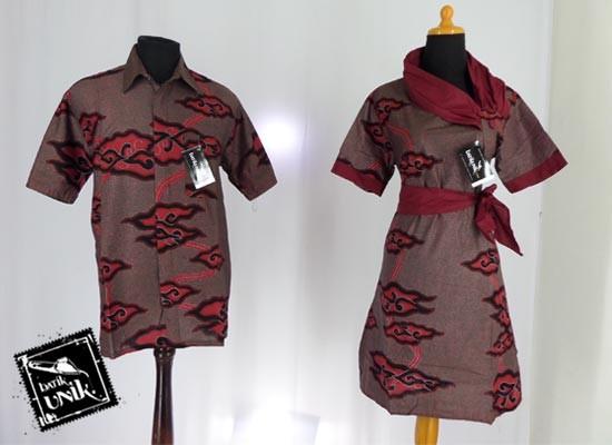 Baju Batik Sarimbit Motif Arak Mega Mendung Kemeja