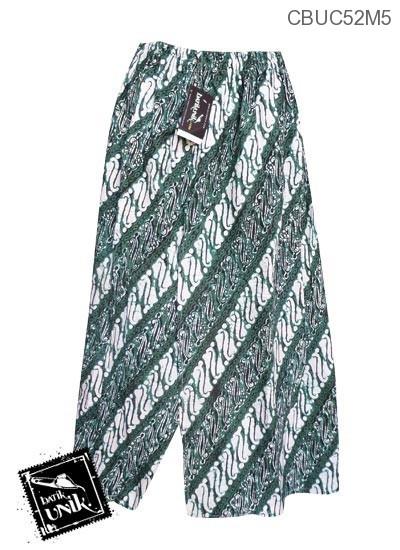 Celana Batik Sarung Panjang Motif Batik Jogja Klasik HIjau