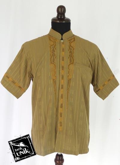 Baju Batik Terbaru  Koko Pendek Exclusive Aplikasi Bordir