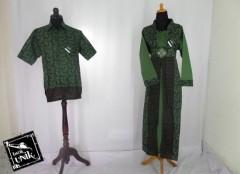 Baju Batik Sarimbit Motif Banji Bunga Modern