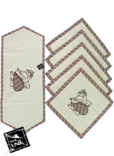 Sarung Bantal Kursi Batik Blaco Motif Semar Bordir
