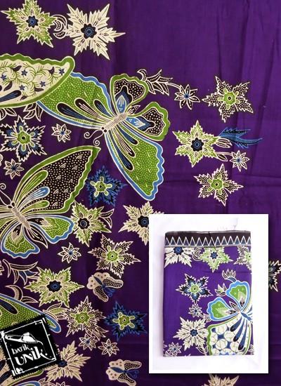 Kain Batik Printing Motif Kupu Bunga Bintang Kain Batik Printing